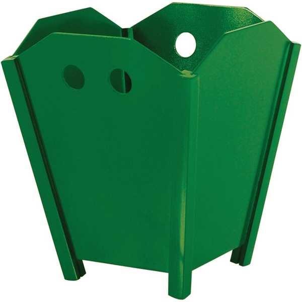 Cesto de Lixo sem Tampa 10L Duratex Verde 1 UN Souza