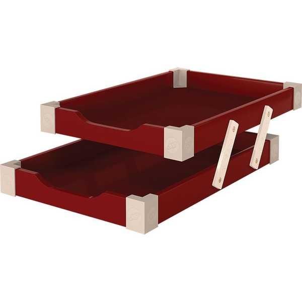 Caixa de Correspondência Dupla Madeira Vermelho 1 UN Souza