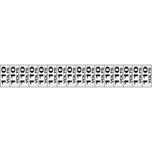 Placa de Alumínio Etiquetas de Voltagem 110V PT 16 UN Sinalize