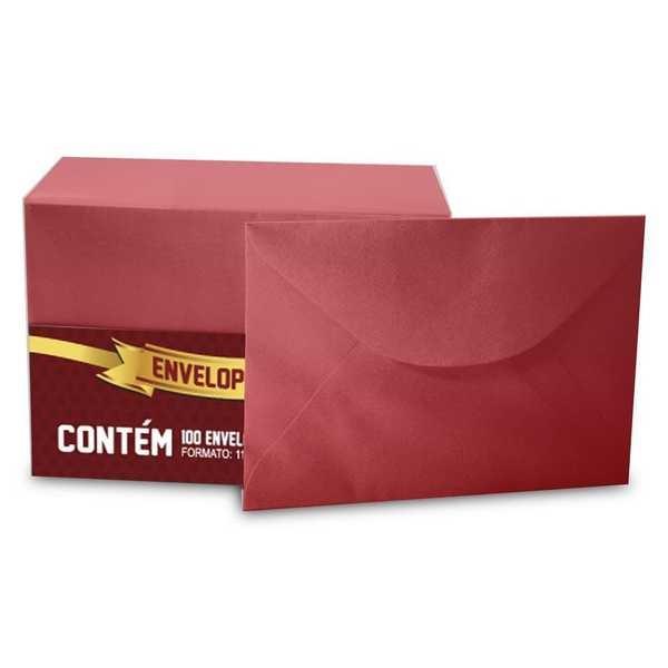 Envelope Visita Color Mais Vermelho 80x115mm PT 100 UN Romitec