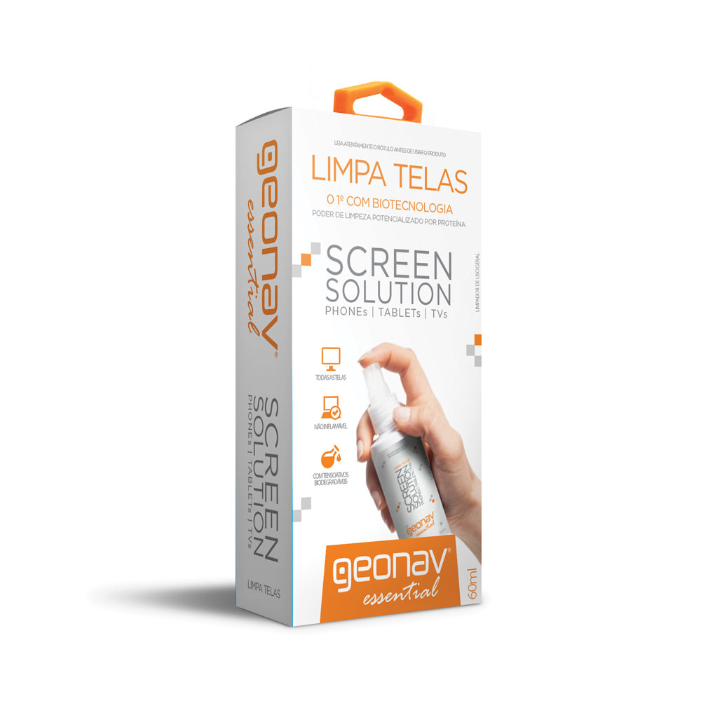 Limpa Telas Screen Solution 60ml 1 UN Geonav
