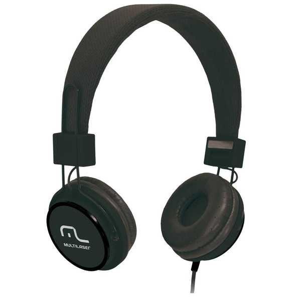 Headphone Fun com Microfone Haste Ajustável Preto PH115 1 UN Multilaser