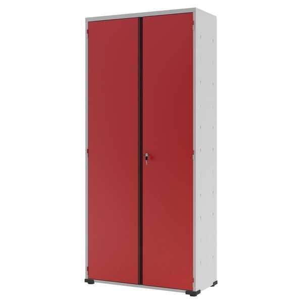 Armário Organizador com Fechadura Vermelho 198x90x40cm 1 UN Elite Aço