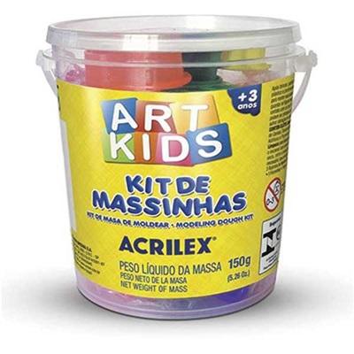 Massa de Modelar Kit 3 Cores 5 Formas 150g 1 UN Acrilex