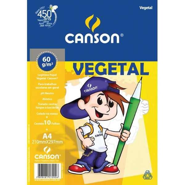 Bloco Vegetal A4 10 Folhas 1 UN Canson