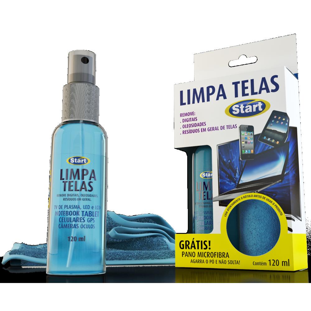 Limpa Telas com Pano Microfibra 120ml 1 UN Start Quimica