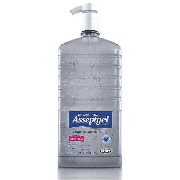 Álcool em Gel Antisséptico para Mãos 70% 1,7Kg 1 UN Asseptgel