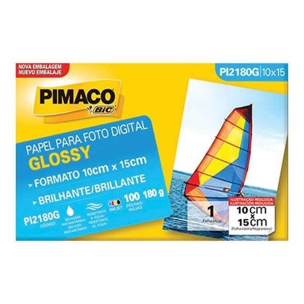 Papel Fotográfico Glossy 10x15cm PT 100 FL Pimaco