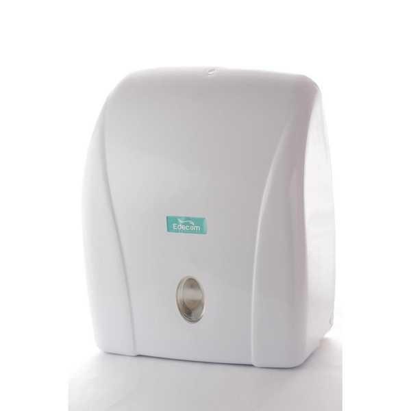 Dispenser Papel Toalha Interfolha 2 e 3 dobras Branco 1 UN Edecam
