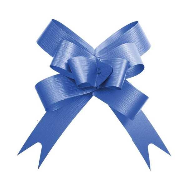 Laço Pronto Cromus 18mm Azul Liso PT 10 UN Cromus