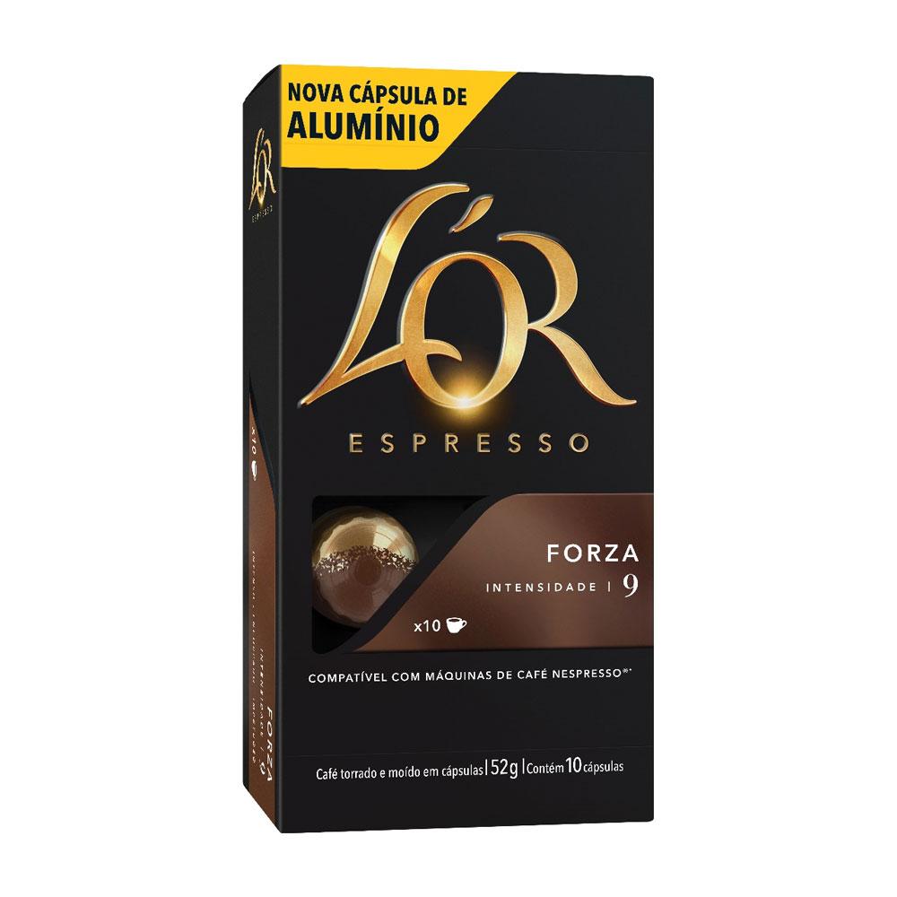 Cápsula de Café Espresso Forza 52g CX 10 UN L'or