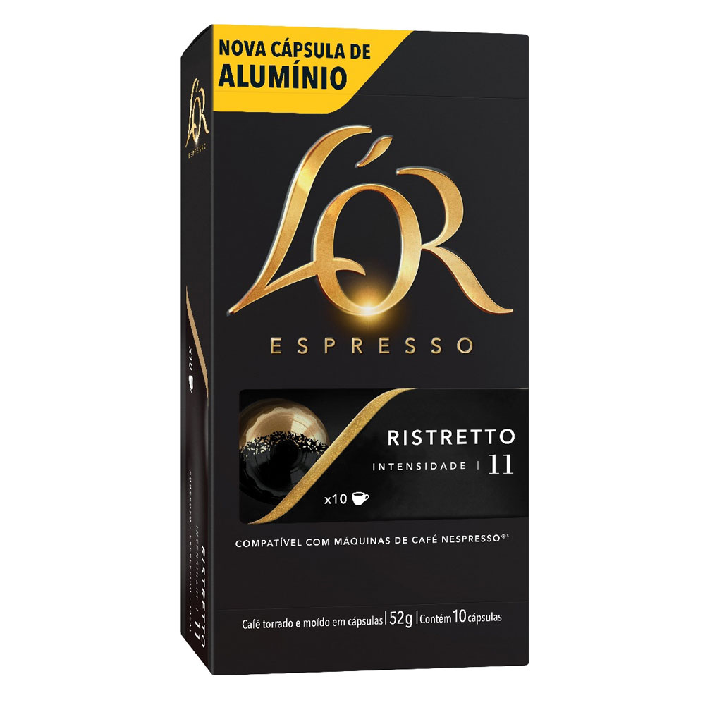 Cápsula de Café Espresso Ristretto 52g CX 10 UN L'or