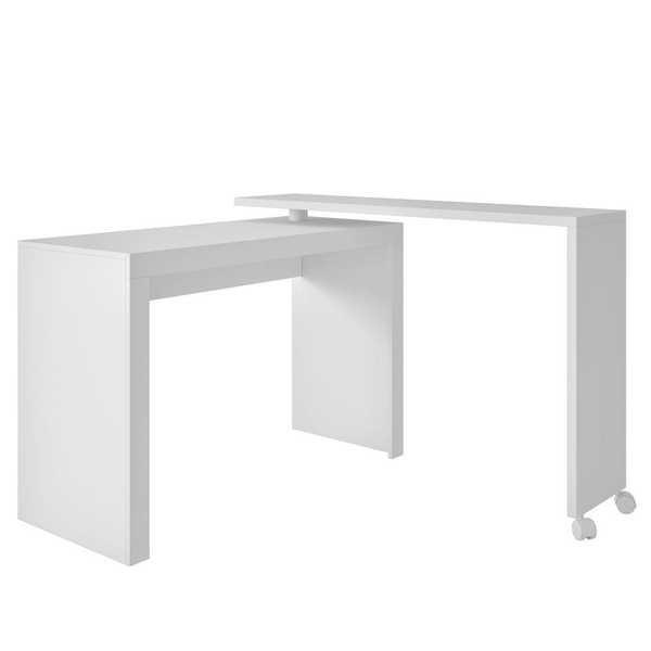 Mesa Escrivaninha com Topo Giratório Branca 81x120x44,5cm 1 UN BRV