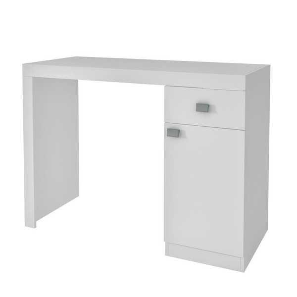 Mesa de Computador Branca 81x110x46cm 1 UN BRV