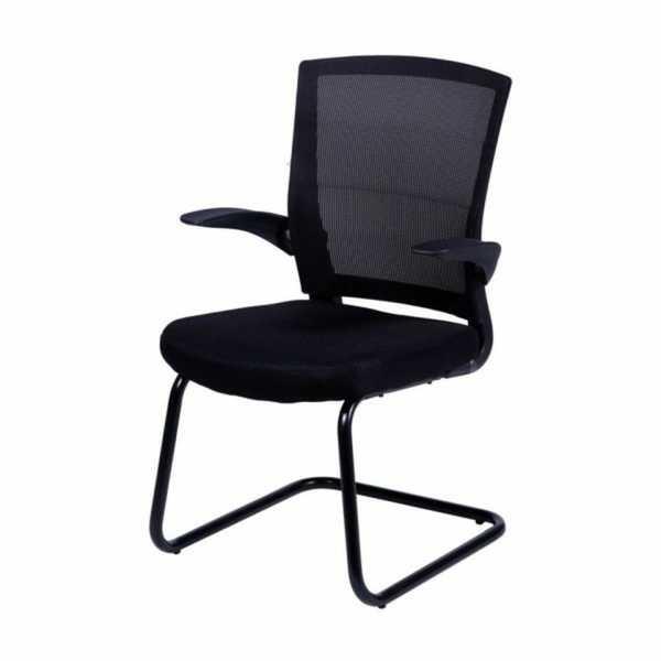 Cadeira Fixa Charles Eames em Nylon e Tela Mesh Preta OR Design