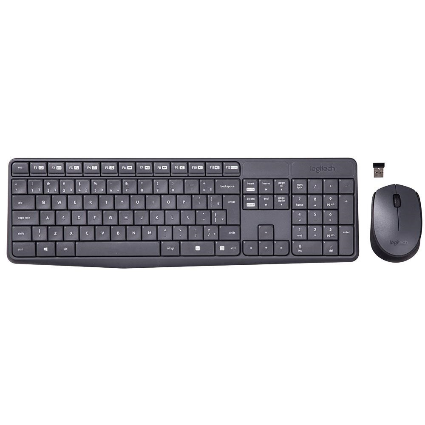Teclado e Mouse Wireless USB Cinza MK235 1 UN Logitech