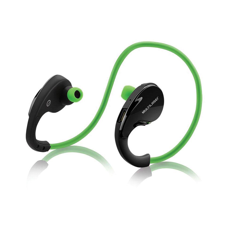 Fone de Ouvido Arco Sport Bluetooth Verde PH184 1 UN Multilaser