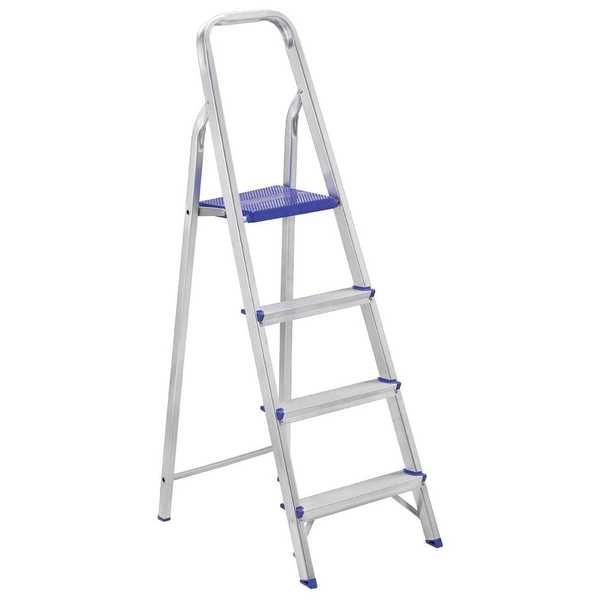 Escada Doméstica Prima com 4 Degraus em Alumínio 1 UN Alustep