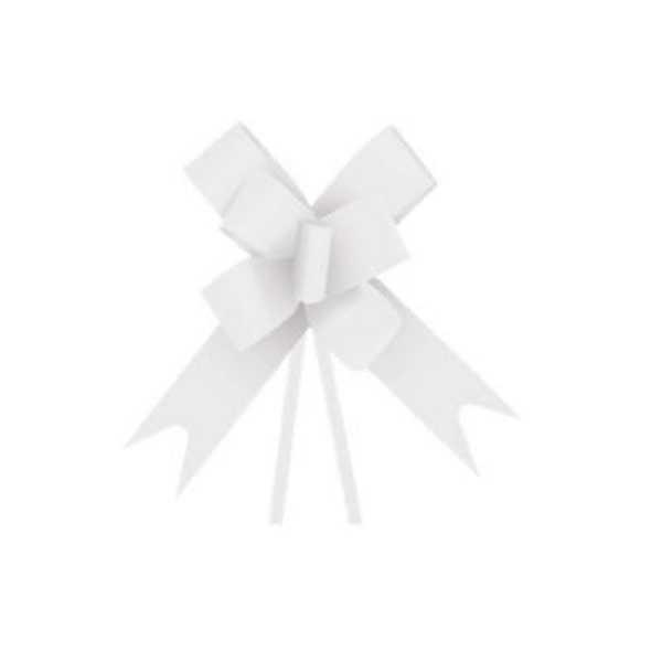 Laço Pronto Branco Liso 18mm PT 10 UN Cromus