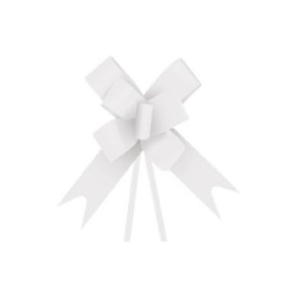 Laço Pronto Branco Liso 23mm PT 10 UN Cromus