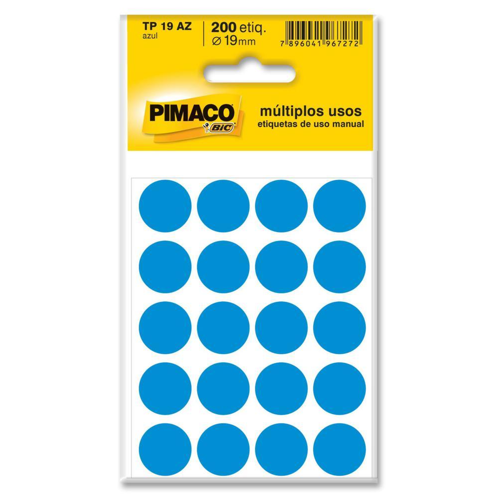 Etiqueta Adesiva Redonda 19mm Azul PT 200 UN Pimaco