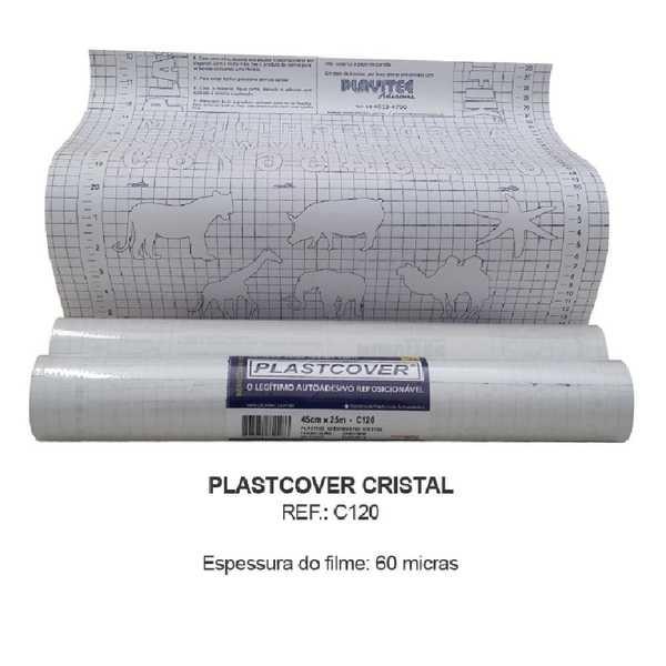 Plástico Autoadesivo Cristal 45cm x 25m 1 UN Plastcover