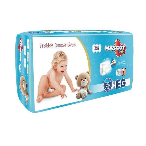 Fralda Descartável Pacote Mega EG PT 38 UN Mascot Baby