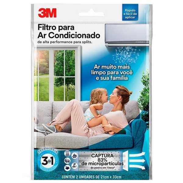 Filtro de Alta Performance para Ar Condicionado Split 2 UN Branco 3M
