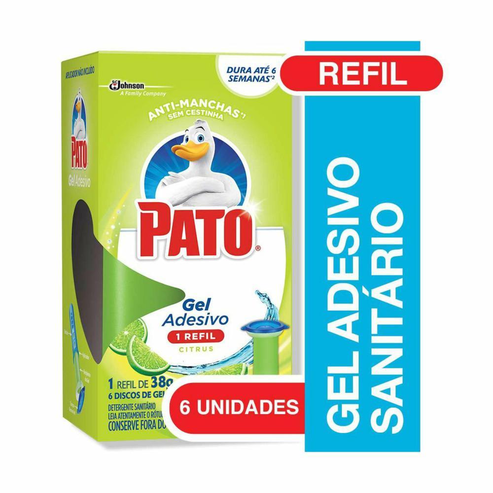 Gel Adesivo Citrus Refil 6 Discos de Gel 1 UN Pato