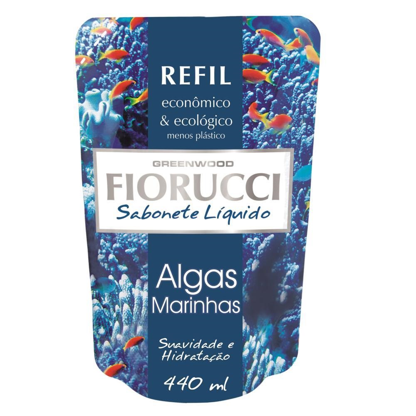 Sabonete Líquido Refil Algas Marinhas 440ml 1 UN Fiorucci