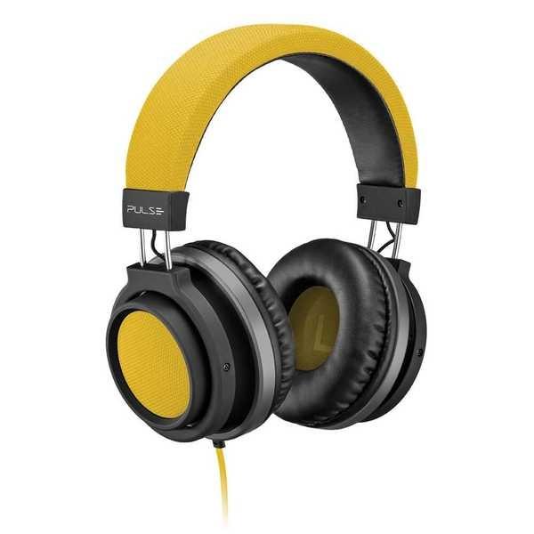 Headphone Large Conector P2 Amarelo PH229 1 UN Pulse