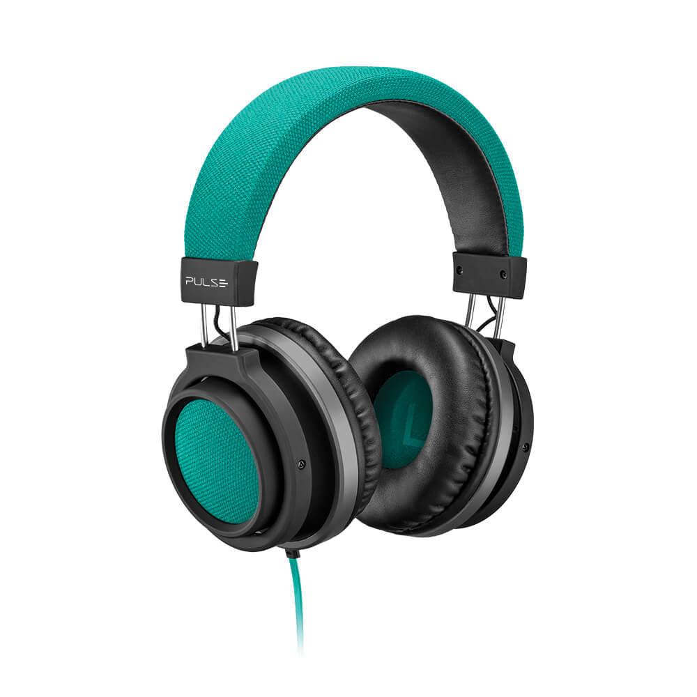 Headphone Large Conector P2 Verde PH227 1 UN Pulse