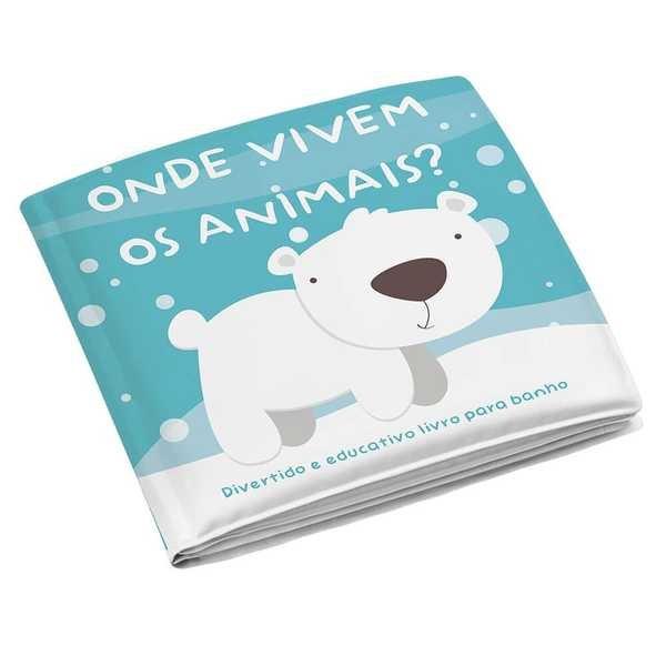 Livrinho de Banho Animais BB174 1 UN Multikids Baby