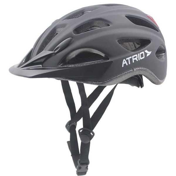 Capacete para Ciclista com LED 2.1 Traseiro Preto Fosco M BI110 1 UN Atrio