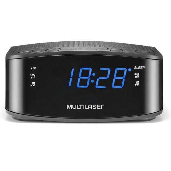 Caixa de Som Rádio Relógio 10W SP288 UN Multilaser