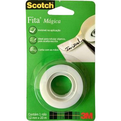 Fita Adesiva Mágica Scotch 1 Rolo 12mm x 20m 1 UN 3M