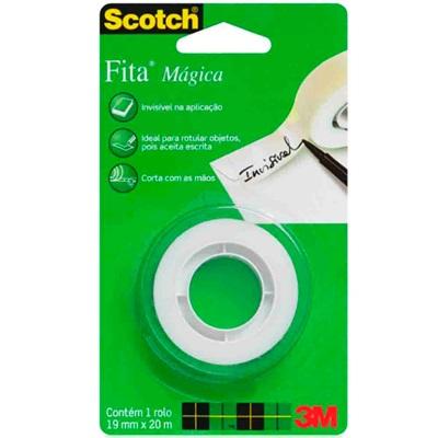 Fita Adesiva Mágica Scotch 1 Rolo 19mm x 20m 1 UN 3M