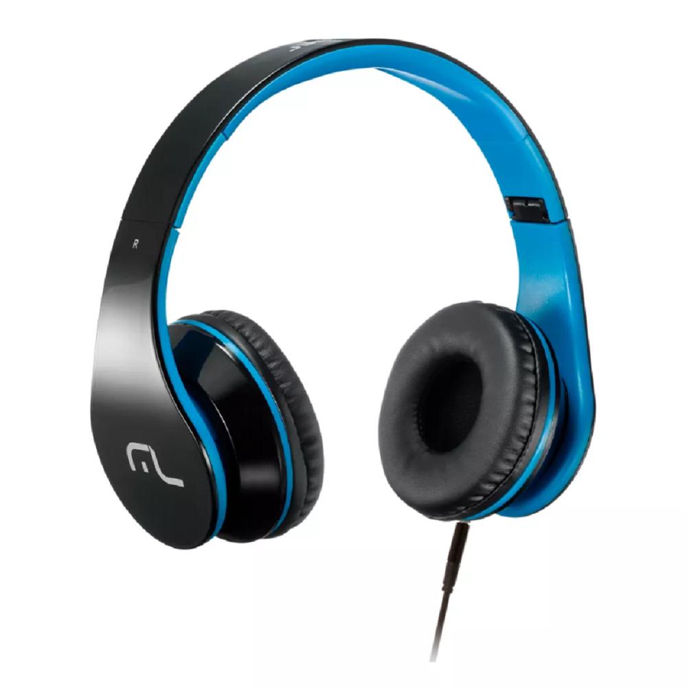 Headphone com Microfone Conector para P2 e PC Azul PH113 1 UN Multilaser