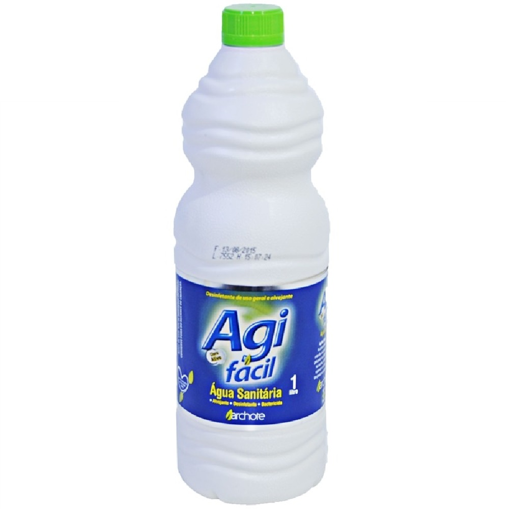 Água Sanitária Cloro Ativo 2,0 à 2,5% 1L 1 UN Agifácil