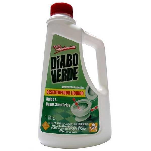 Desentupidor Liquido 1L 1 UN Diabo Verde