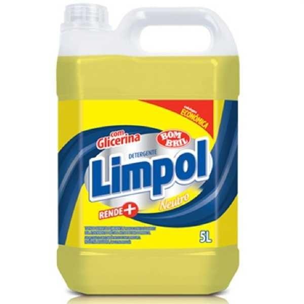 Detergente Líquido 5L Neutro 1 UN Limpol