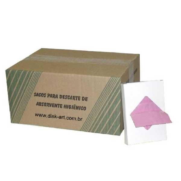 Sacos para Descarte de Absorvente Higiênico CX 24 de 25 UN Disk art