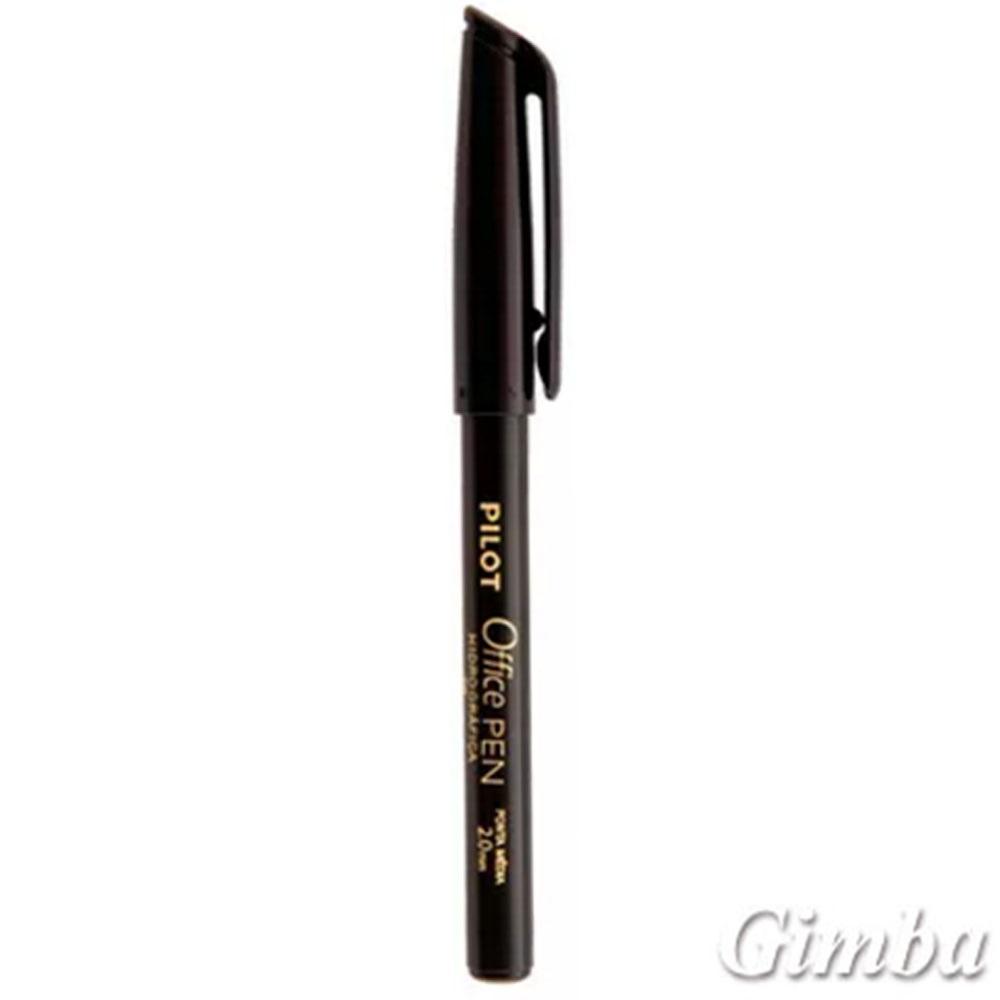 Caneta Hidrográfica Office Pen Preta 2.0mm 1 UN Pilot