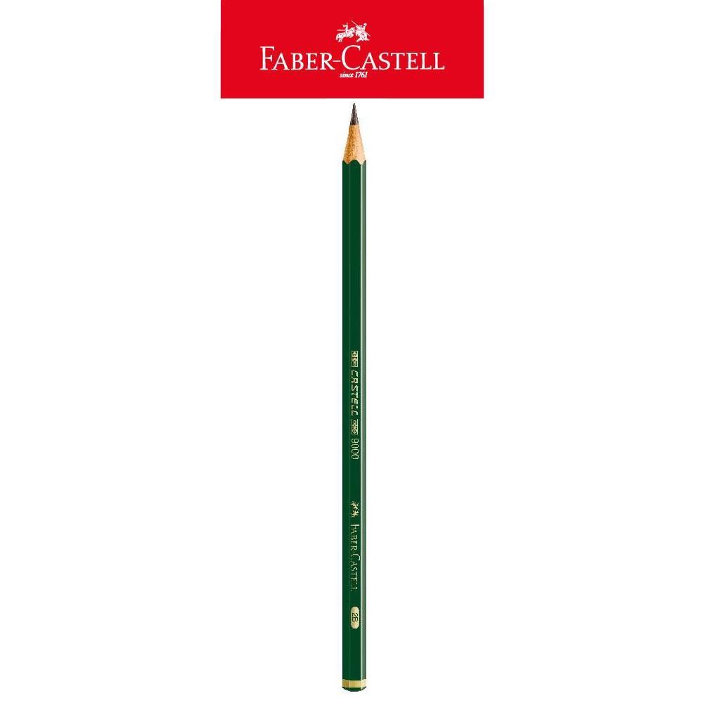 Lápis Preto 9000 2B Regent Técnico Sextavado 1 UN Faber Castell