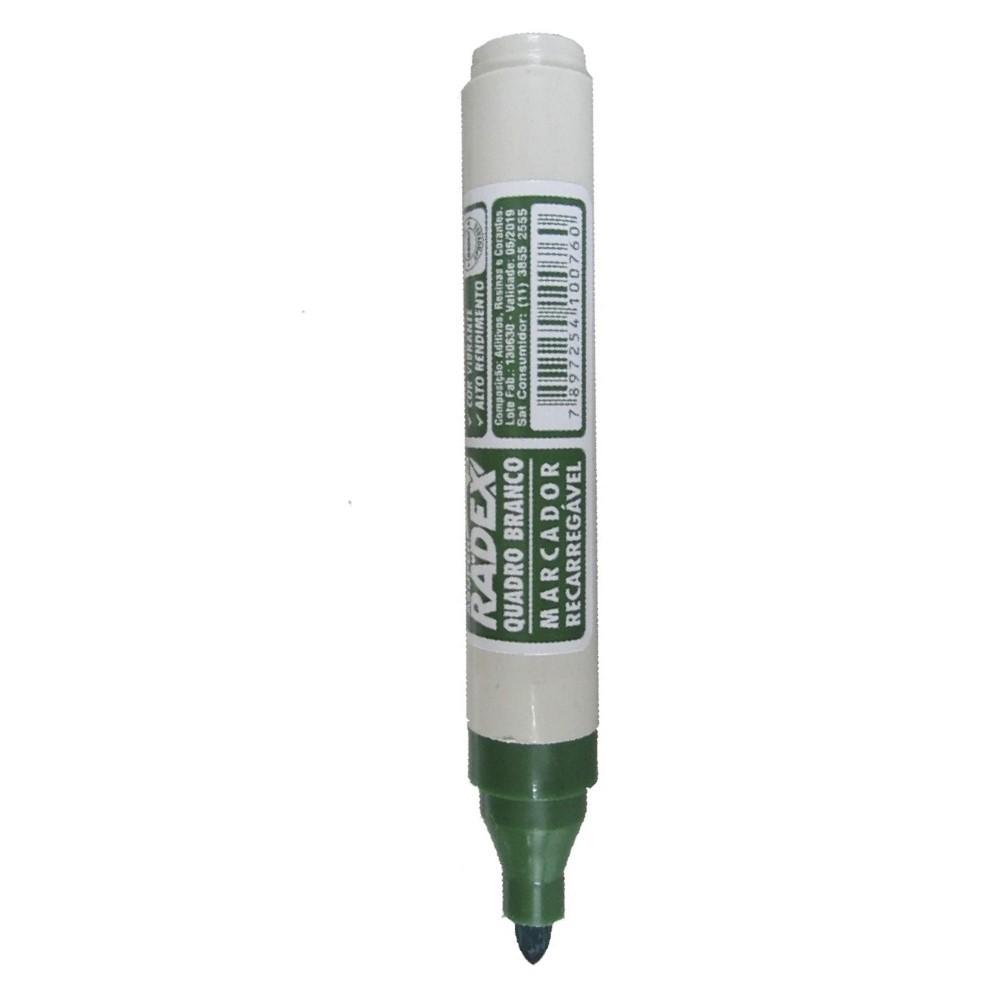 Pincel Marcador Quadro Branco Verde 1 UN Radex