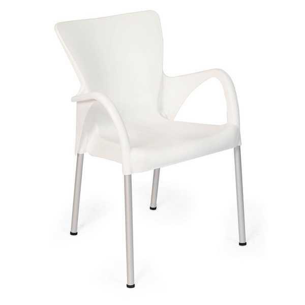 Cadeira Fixa Setúbal Branco 1 UN Xplast