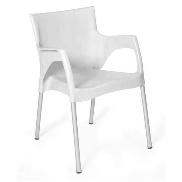 Cadeira Fixa Santarém Branco 1 UN Xplast