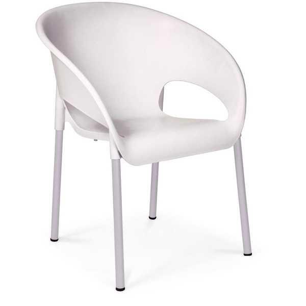 Cadeira Fixa Coimbra Branco 1 UN Xplast