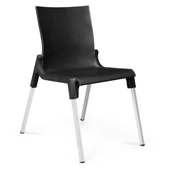 Cadeira Fixa Queluz Preto 1 UN Xplast