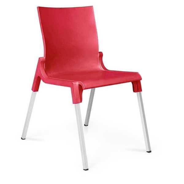 Cadeira Fixa Queluz Vermelho 1 UN Xplast
